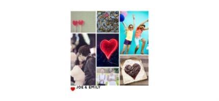 Mugs - Romantic Collage Photo Upload Mug - Image 4