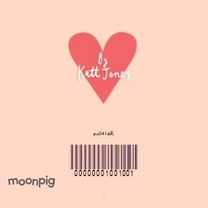 Greeting Cards - Big Pink Hearts Personalised Card - Image 4