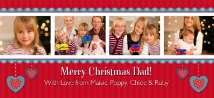 Mugs - Red Christmas Banner Photo Upload Mug - Image 4