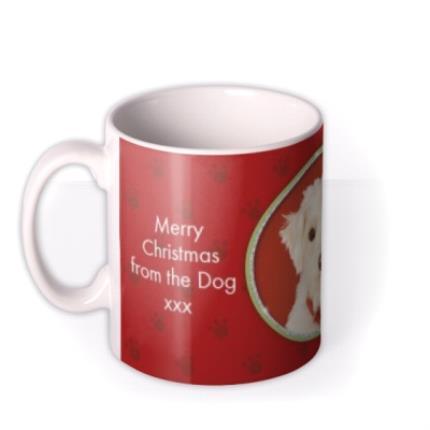 Mugs - Merry Christmas Dog Photo Upload Mug - Image 1