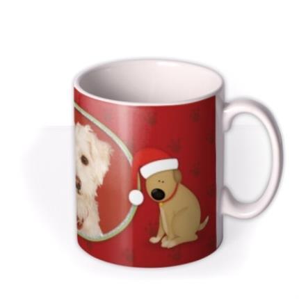 Mugs - Merry Christmas Dog Photo Upload Mug - Image 2