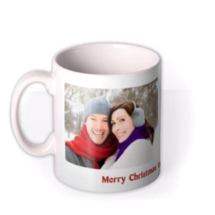 Mugs - Merry Christmas Double Photo Upload Mug - Image 1