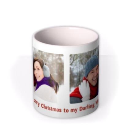 Mugs - Merry Christmas Double Photo Upload Mug - Image 3