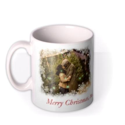 Mugs - Christmas Snowflake Duo Photo Upload Mug - Image 1