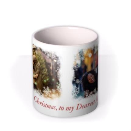 Mugs - Christmas Snowflake Duo Photo Upload Mug - Image 3