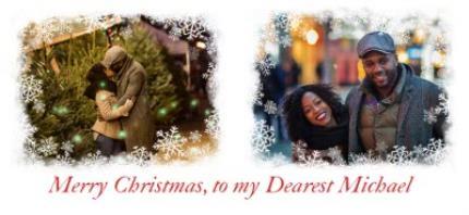 Mugs - Christmas Snowflake Duo Photo Upload Mug - Image 4