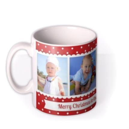 Mugs - Christmas Best Mummy Photo Upload Mug - Image 1