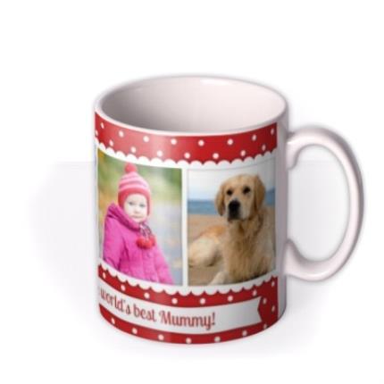 Mugs - Christmas Best Mummy Photo Upload Mug - Image 2