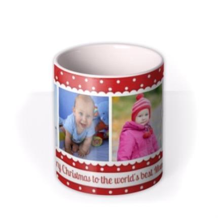 Mugs - Christmas Best Mummy Photo Upload Mug - Image 3