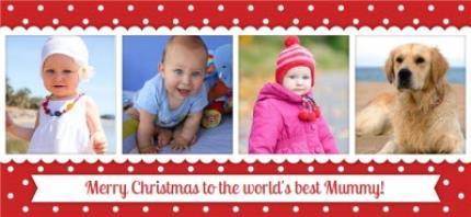 Mugs - Christmas Best Mummy Photo Upload Mug - Image 4