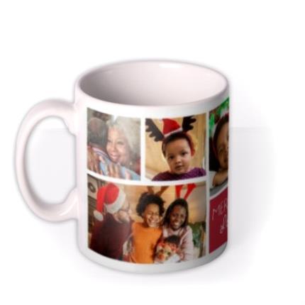 Mugs - Christmas Collage 7 Photo Upload Mug - Image 1