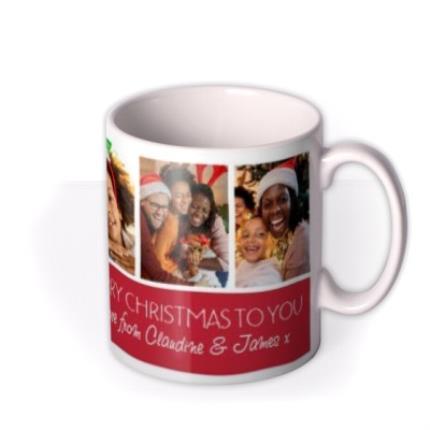 Mugs - Christmas Collage 7 Photo Upload Mug - Image 2