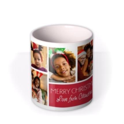 Mugs - Christmas Collage 7 Photo Upload Mug - Image 3