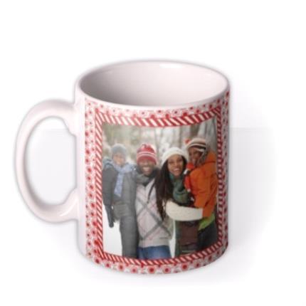 Mugs - Christmas Frame Photo Upload Mug - Image 1