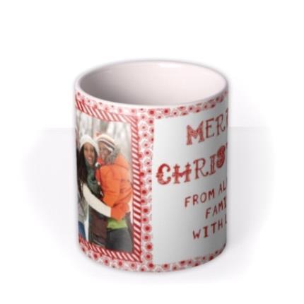 Mugs - Christmas Frame Photo Upload Mug - Image 3