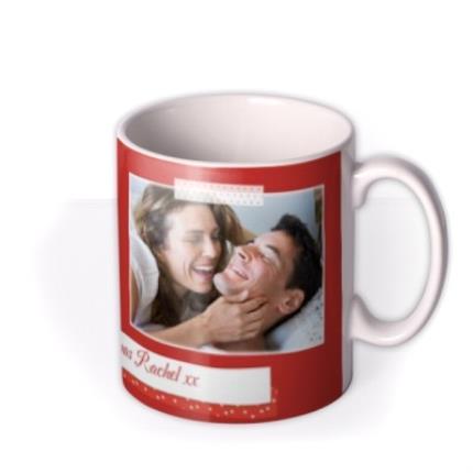 Mugs - Merry Christmas Red Tape Photo Upload Mug - Image 2
