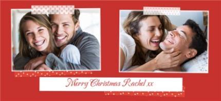 Mugs - Merry Christmas Red Tape Photo Upload Mug - Image 4