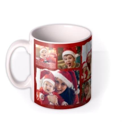 Mugs - Merry Christmas Collage Photo Upload Mug - Image 1