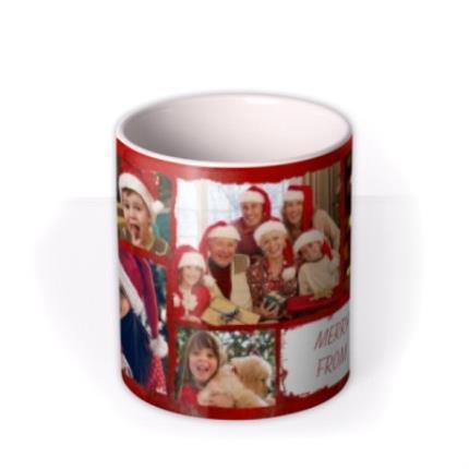 Mugs - Merry Christmas Collage Photo Upload Mug - Image 3