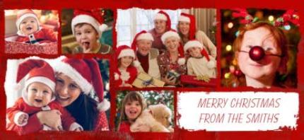 Mugs - Merry Christmas Collage Photo Upload Mug - Image 4