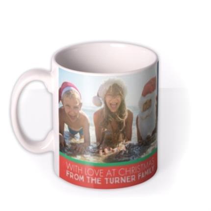 Mugs - Merry Christmas With Love Family Photo Upload Mug - Image 1