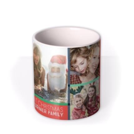 Mugs - Merry Christmas With Love Family Photo Upload Mug - Image 3