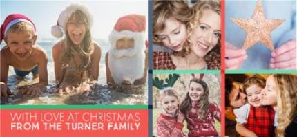 Mugs - Merry Christmas With Love Family Photo Upload Mug - Image 4