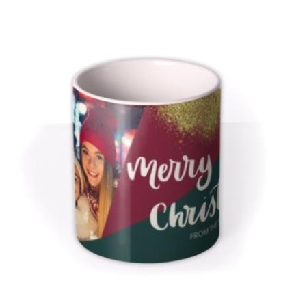 Mugs - Geometric Sparkles Photo Upload Merry Christmas Mug - Image 3