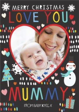 Greeting Cards - Kat Jones Love You Mummy Photo Upload Card - Image 1