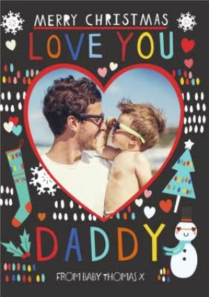 Greeting Cards - Kat Jones Love You Daddy Photo Upload Card - Image 1