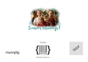 Greeting Cards - Merry Christmas Aqua Snowflake Merry Christmas Card - Image 4