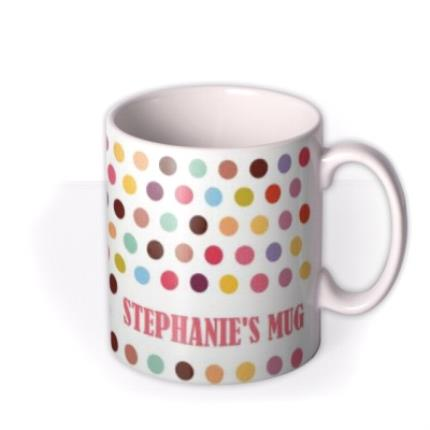 Mugs - Multi Coloured Spots Personalised Mug - Image 2