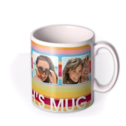 Mugs - Bright Stripes Photo Upload Mug - Image 2