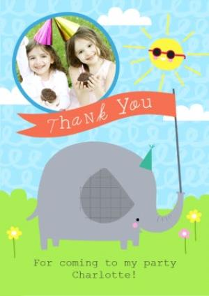 Greeting Cards - Baby Elephant Thanks For Coming To My Party Card - Image 1