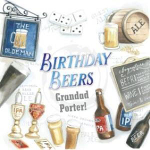 Greeting Cards - Birthday Card for Grandad - Birthday Beers - The Pub - Image 1
