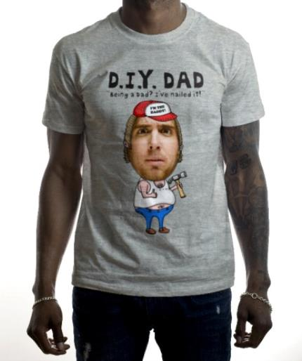 T-Shirts - Father's Day DIY Face Swap Photo Upload T-shirt - Image 2
