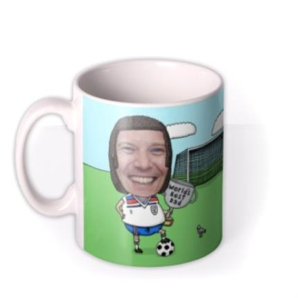 Mugs - Father's Day Football Face Swap Photo Upload Mug - Image 1