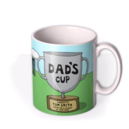 Mugs - Father's Day Football Face Swap Photo Upload Mug - Image 2