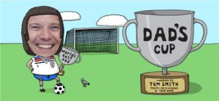 Mugs - Father's Day Football Face Swap Photo Upload Mug - Image 4