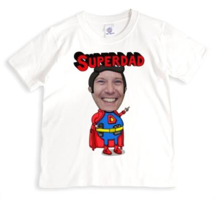 T-Shirts - Father's Day Superdad Face Swap Photo Upload T-shirt - Image 1
