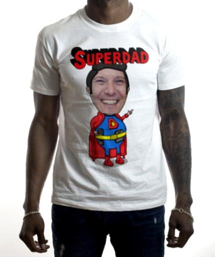 T-Shirts - Father's Day Superdad Face Swap Photo Upload T-shirt - Image 2