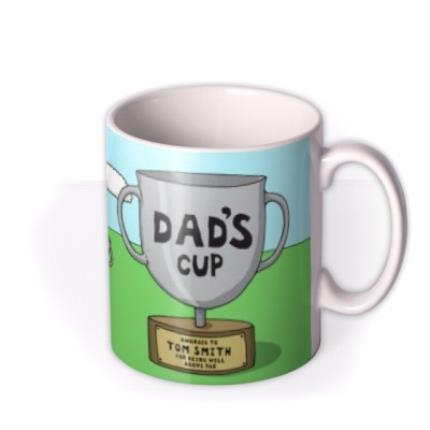 Mugs - Father's Day Golf Face Swap Photo Upload Mug - Image 2