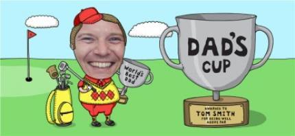 Mugs - Father's Day Golf Face Swap Photo Upload Mug - Image 4