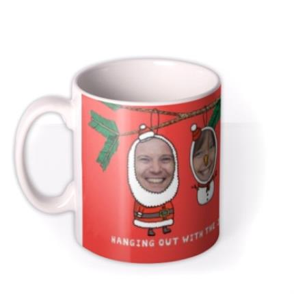 Mugs - Christmas Decorations Photo Upload Mug - Image 1