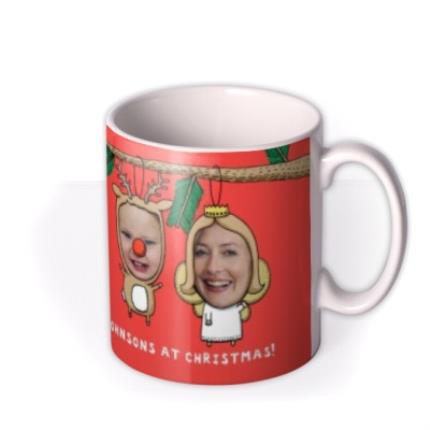 Mugs - Christmas Decorations Photo Upload Mug - Image 2