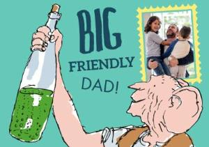 Greeting Cards - B.F.G. Big Friendly Dad Photo Card - Image 1