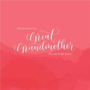 Greeting Cards - Mother's Day Card - Great Grandmother - Image 1