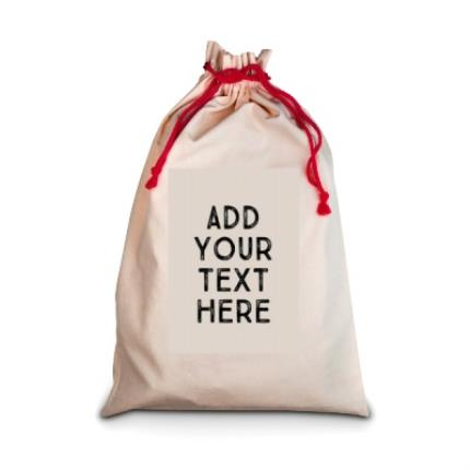 Gifts For Home - 'Add Your Text Here' Sack - Image 1