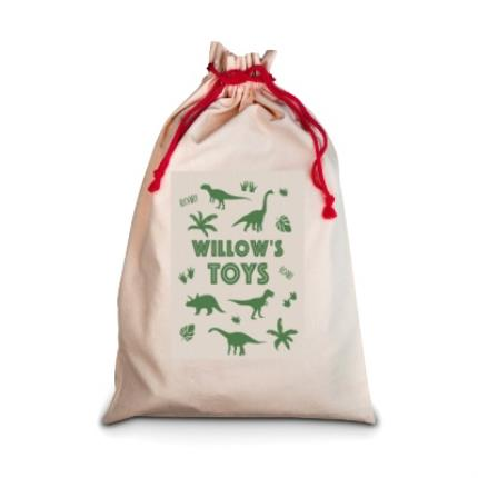Gifts For Home - Personalised Dinosaur Toy Sack - Image 1