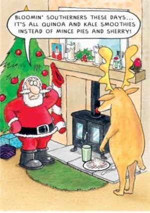 Greeting Cards - Bloomin' Southerners Joke Christmas Card - Image 1